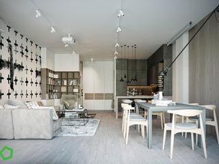 Polygon arch&des Living room White