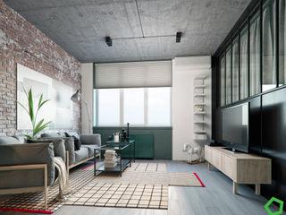 Polygon arch&des Living room Grey