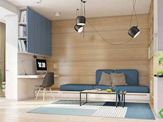 Polygon arch&des Modern style study/office