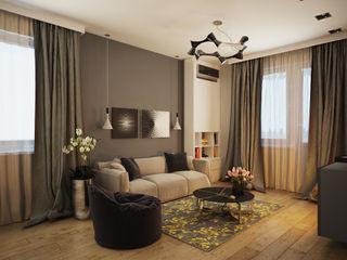 Polovets design studio Ruang Keluarga Minimalis