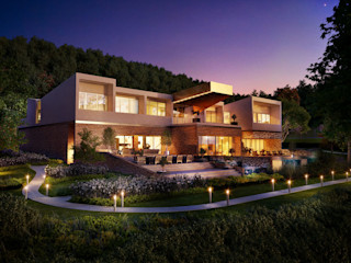 Villa Resort, Gabala, Azerbaijan ÜberRaum Architects Modern houses