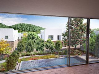 Villa Resort, Gabala, Azerbaijan ÜberRaum Architects Modern pool