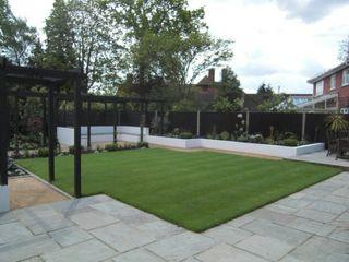 Contemporary Garden Design, Silchester, Berkshire Linsey Evans Garden Design Modern garden Sandstone Blue