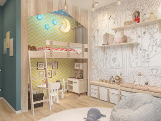 Мастерская дизайна Welcome Studio Stanza dei bambini minimalista