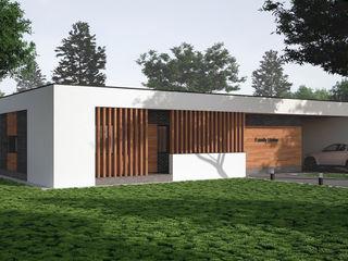 Проект современного одноэтажного дома в России Sboev3_Architect Дома в стиле минимализм