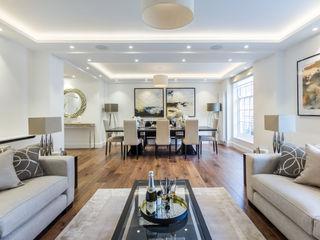 Luxury London Mayfair Aparment homify Salas de estilo clásico Blanco