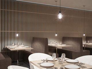 Schuster Innenausbau Gastronomía de estilo moderno Madera Marrón