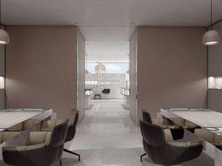 Schuster Innenausbau Oficinas y tiendas de estilo moderno