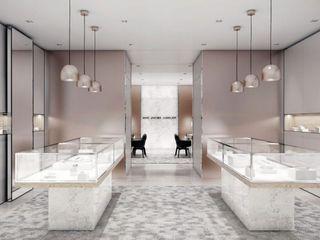 Schuster Innenausbau Oficinas y tiendas de estilo moderno Marrón