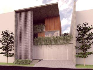 Lozano Arquitectos Case in stile minimalista Cemento Grigio