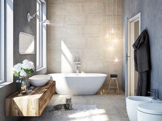 DMC Real Render Baños de estilo industrial