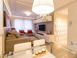 Camila Chalon Arquitetura Ruang Keluarga Modern