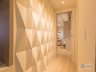 Camila Chalon Arquitetura Koridor & Tangga Modern