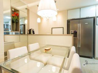 Camila Chalon Arquitetura Ruang Makan Modern