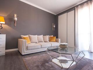 DemianStagingDesign Salones de estilo moderno Gris