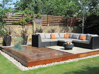 Outdoor garden lounge Christine Wilkie Garden Design Jardines de estilo moderno