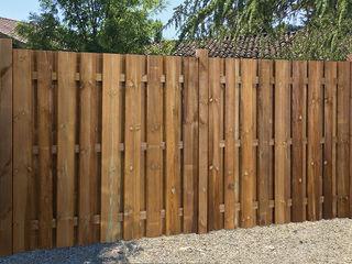 Braun & Würfele - Holz im Garten Rustic style garden Wood Brown