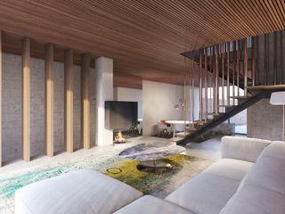 destilat Design Studio GmbH Modern living room