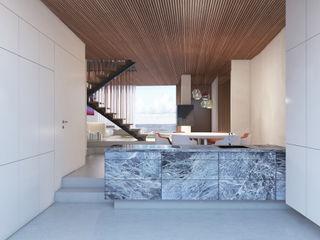 destilat Design Studio GmbH Modern corridor, hallway & stairs