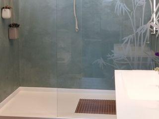 Fugenloses Bad und fugenlose Dusche Volimea GmbH & Cie KG Moderne Badezimmer Kalkstein Grün