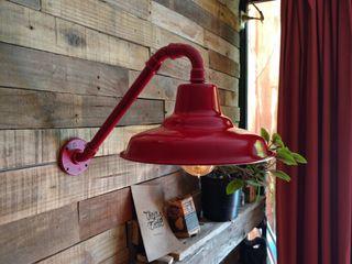 Lámpara Pared Galponera Lamparas Vintage Vieja Eddie HogarArtículos para el hogar Hierro/Acero Rojo
