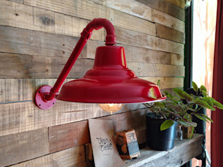 Lámpara Pared Galponera Lamparas Vintage Vieja Eddie LivingsIluminación Hierro/Acero Rojo