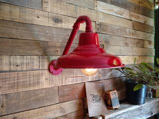 Lámpara Pared Galponera Lamparas Vintage Vieja Eddie EstudioIluminación Hierro/Acero Rojo