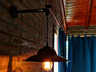 Lámpara Pared Industrial Pantalla Colgante Lamparas Vintage Vieja Eddie EstudioIluminación Hierro/Acero Negro