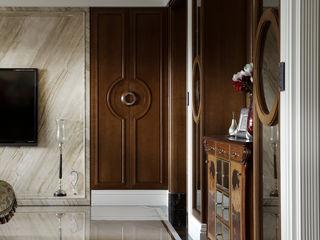 大荷室內裝修設計工程有限公司 Living room Brown