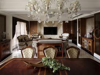 大荷室內裝修設計工程有限公司 Classic style dining room Brown