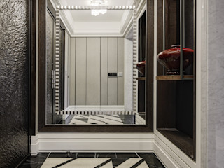 大荷室內裝修設計工程有限公司 Pasillos, vestíbulos y escaleras de estilo clásico Marrón