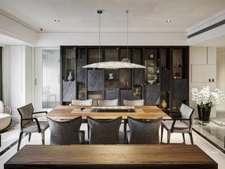 大荷室內裝修設計工程有限公司 Comedores de estilo clásico Marrón