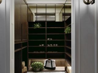 大荷室內裝修設計工程有限公司 Pasillos, vestíbulos y escaleras de estilo clásico