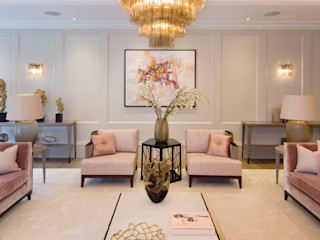 Hampstead Garden Suburb Homes KSR Architects Living roomSofas & armchairs Pink