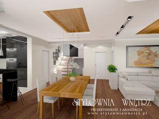 Stylownia Wnętrz Modern dining room Wood Wood effect