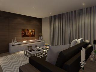 Lopes e Theisen Arquitetura Salas de estilo moderno