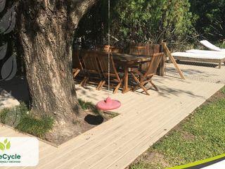 LifeCycle Eco Decking - Deck Libre de Mantenimiento Rustic style walls & floors Wood-Plastic Composite Wood effect