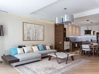 Bellarte interior studio Ruang Keluarga Minimalis