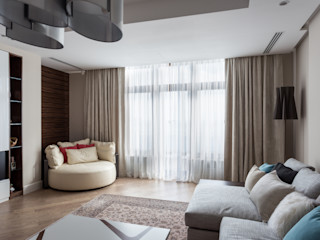 Bellarte interior studio Ruang Keluarga Minimalis White