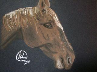 Horse pastel sketch KristinaArtist&Photography Произведения искусстваКартины и принты