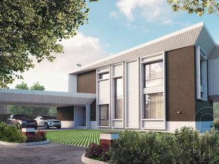 Pivot house BOOS architects Дома в стиле минимализм Дерево Белый