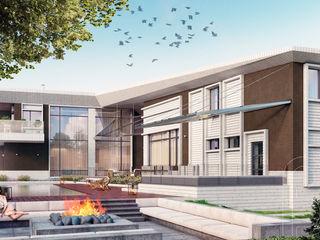 Pivot house BOOS architects Дома в стиле модерн Кирпичи Коричневый