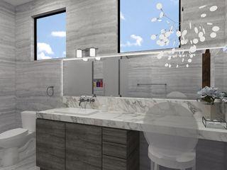 TAMEN arquitectura Baños de estilo moderno