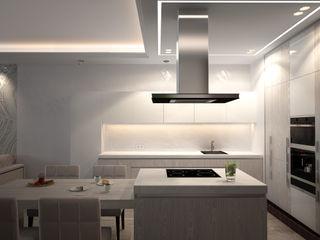 Современная квартира с элементами ар-деко премиум интериум Кухни в эклектичном стиле Дерево