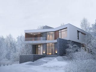 Дом в лесу премиум интериум Дома в стиле минимализм