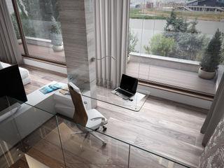 Дом у большой воды премиум интериум Гостиная в стиле минимализм