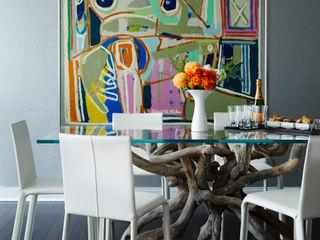 Downtown Pied-a-Terre Douglas Design Studio Modern dining room Multicolored