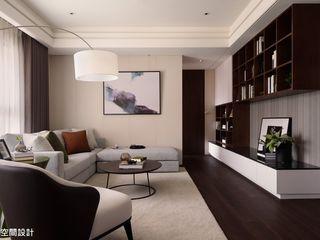 成綺空間設計 Salas de estar modernas