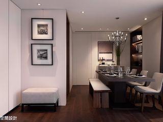 成綺空間設計 Salas de jantar modernas