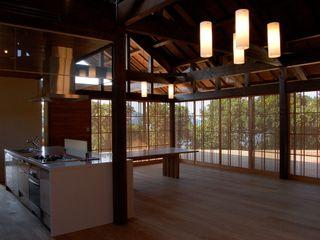 アジアンスタイルのテラスハウス 環アソシエイツ・高岸設計室 リビングルームアクセサリー&デコレーション 竹 多色